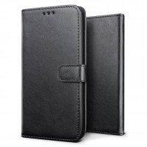 Luxury wallet hoesje Huawei P20 Lite zwart