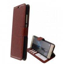 Luxury wallet hoesje Huawei P9 Lite bruin