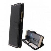 Luxury wallet hoesje Huawei P9 Lite zwart
