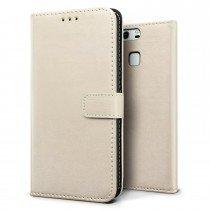 Luxury wallet hoesje Huawei P9 wit