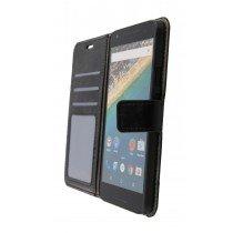 Luxury wallet hoesje LG Nexus 5X zwart - Open