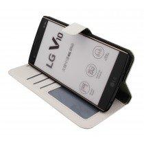 Luxury wallet hoesje LG V10 wit
