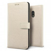 Luxury wallet hoesje Motorola Moto G4 wit
