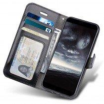 Luxury wallet hoesje Motorola Moto G6 zwart