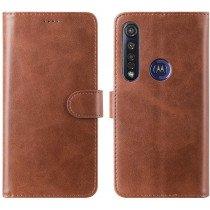 Luxury wallet hoesje Motorola Moto G8 Plus bruin