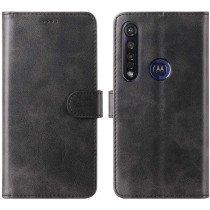 Luxury wallet hoesje Motorola Moto G8 Plus zwart