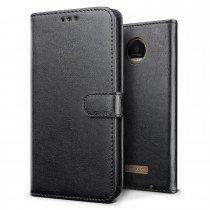 Luxury wallet hoesje Motorola Moto Z zwart