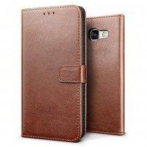 Luxury wallet hoesje Samsung Galaxy A5 2017 bruin