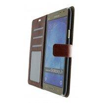 Luxury wallet hoesje Samsung Galaxy J7 bruin - Open