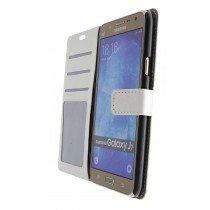 Luxury wallet hoesje Samsung Galaxy J7 wit - Open