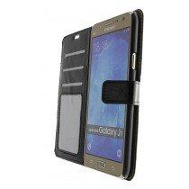 Luxury wallet hoesje Samsung Galaxy J7 zwart - Open