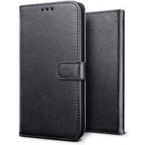 Luxury wallet hoesje Samsung Galaxy Note 10 zwart