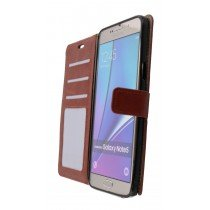 Luxury wallet hoesje Samsung Galaxy Note 5 bruin - Open