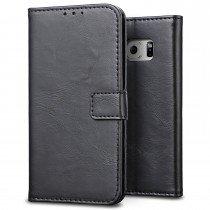 Luxury wallet hoesje Samsung Galaxy S7 Edge zwart