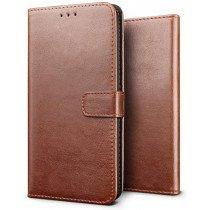 Luxury wallet hoesje Sony Xperia 5 bruin
