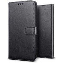 Luxury wallet hoesje Sony Xperia 5 zwart