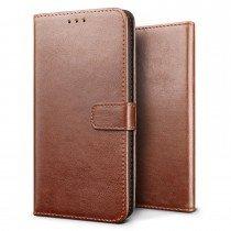 Luxury wallet hoesje Sony Xperia X bruin