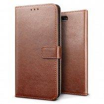 Luxury wallet hoesje Sony Xperia X Compact bruin