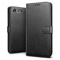 Luxury wallet hoesje Sony Xperia XZ1 Compact zwart