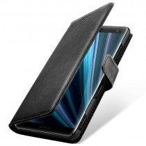 Luxury wallet hoesje Sony Xperia XZ3 zwart