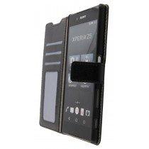 Open - Luxury wallet hoesje Sony Xperia Z5 zwart