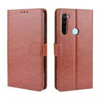Luxury wallet hoesje Xiaomi Redmi Note 8 bruin
