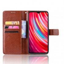 Luxury wallet hoesje Xiaomi Redmi Note 8 Pro bruin