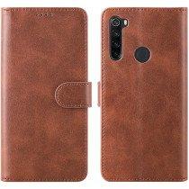 Luxury wallet hoesje Xiaomi Redmi Note 8T bruin