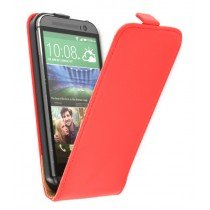 M-Supply Flip case dual color HTC One M8 rood