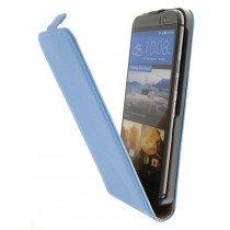 Hoesje HTC One M9 flip case dual color blauw