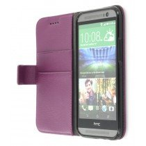 M-Supply Flip case met stand HTC One M8 paars