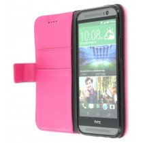 M-Supply Flip case met stand HTC One M8 roze