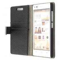 M-Supply Flip case met stand Huawei Ascend G6 zwart