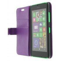 M-Supply Flip case met stand Nokia Lumia 630 paars