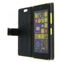 M-Supply Flip case met stand Nokia Lumia 630 zwart