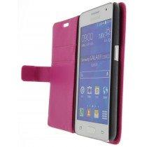M-Supply Flip case met stand Samsung Galaxy Core 2 roze