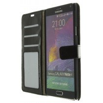 M-Supply Flip case met stand Samsung Galaxy Note 4 zwart