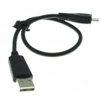 Micro USB datakabel universeel zwart 0,3m