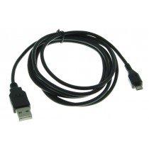 Micro USB datakabel universeel zwart 1,8m