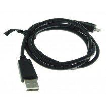 Micro USB datakabel universeel zwart 1m