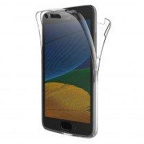 Motorola Moto G5 TPU hoesje voor + achter