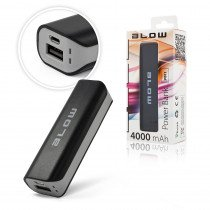Powerbank met 1x USB - 4000mAh - zwart