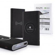 QI draadloze powerbank batterij zwart - 1x USB - 10000 mAh