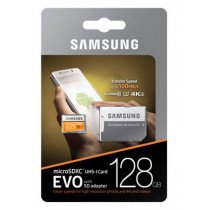 Samsung EVO MicroSDXC kaart 128GB C10/UHS-1