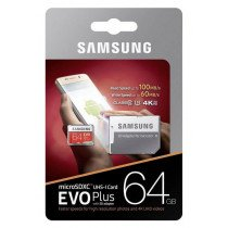 Samsung EVO MicroSDXC kaart 64GB 4K C10/UHS-1