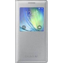 Voorkant - Samsung Galaxy A5 S-View cover zilver EF-CA500BSE