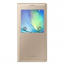 Samsung Galaxy A7 S-View cover goud EF-CA700BF