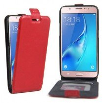 Samsung Galaxy J5 2016 flip cover - vintage - rood
