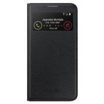 Samsung Galaxy S4 S-View cover leer zwart EF-MI950BB