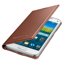 Samsung Galaxy S5 Mini Flip Cover rose gold EF-FG800BF